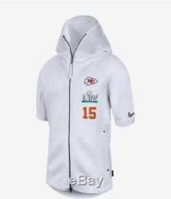 NFL Super Bowl LIV 54 Mahomes 15 Chefs Kc Nike Sideline Médias Showout Hoodie M