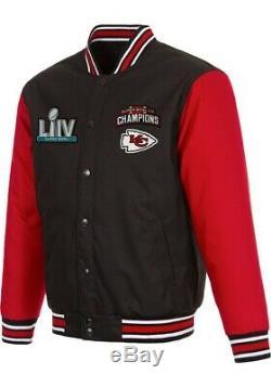 NFL Super Bowl LIV City Chiefs Champions Kansas Twill Men Jacket