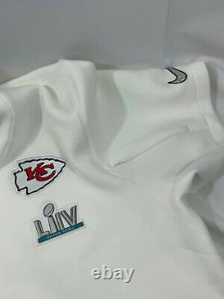 Nike Kansas City Chiefs Hommes Super Bowl LIV 54 Media Showout Hoodie Jacket 4xl