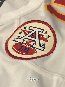 Nike Kansas City Chiefs Patrick Mahomes Hommes Blanc Super Bowl Jeu Jersey XL