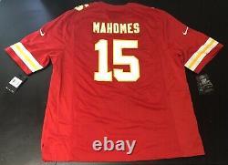 Nike Kansas City Chiefs Patrick Mahomes Mens Red Super Bowl Jeu Jersey 2xl XXL