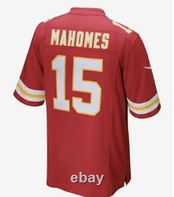 Nike Kansas City Chiefs Patrick Mahomes Super Bowl 54 LIV Patch Jersey Rouge Kc S