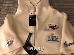 Nike Kansas City Chiefs Superbowl LIV Champions Showout Media Player Hoodie XL