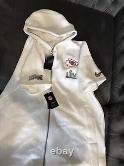 Nike NFL Kansas City Chiefs Super Bowl LIV 54 Showout Hoodie Blanc