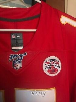 Nike On Field Stitched Custom Patrick Mahomes Super Bowl LIV Jersey Grands Chefs