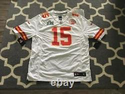 Nike Patrick Mahomes Blanc Super Bowl 54 LIV Patch Sur Le Terrain Kc Chiefs Jersey XL