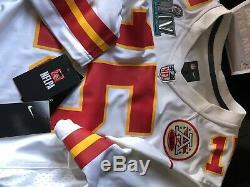 Nike Patrick Mahomes Kansas City Chiefs Super Bowl LIV Jersey S Blanc Tn-o