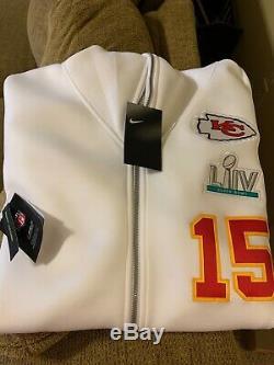 Nike Patrick Mahomes Kansas City Chiefs Super Bowl LIV Médias Showout Hoodie-lg