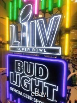 Nouveau 20x36 Bud Light Super Bowl LIX Chiefs Led Neon. Tout Nouveau Dans La Boite