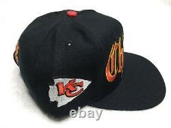 Nouveau Vintage 90s Kansas City Chiefs Ancien Anglais Script Drew Pearson Hat Mahomes