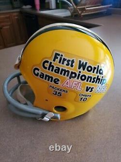 Packers Chiefs Tk Fs Riddell Helmet Super Bowl I World Championship Afl NFL Rare