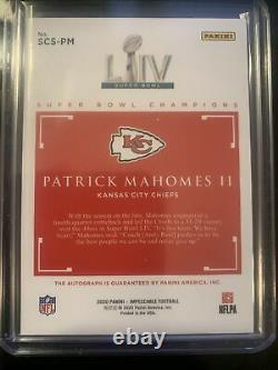 Panini Impeccable Patrick Mahomes II Super Bowl Champions Auto 04/25 Chiefs