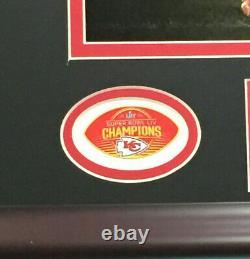 Pat Mahomes Chiefs A Signé 16x20 Super Bowl LIV Photo Encadré Autographe Jsa Coa