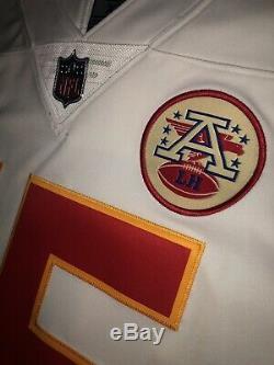 Patrick Chefs Mahomes Rouge Super Bowl Blanc À L'extérieur De Vapeur Limitée Authentique Maillots