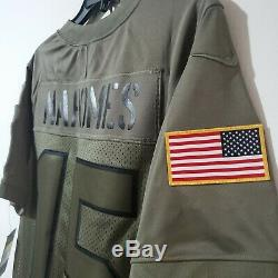 Patrick Mahomes 19 Salut À Service Chiefs De Kansas City Mvp Jersey Petit S Rare