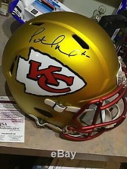 Patrick Mahomes Auto Kansas City Chiefs Blaze Full Size Super Bowl Mvp Casques