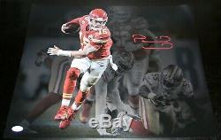 Patrick Mahomes Autographed Kansas City Chiefs Super Bowl LIV 16x20 Photo Jsa