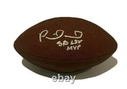 Patrick Mahomes Autographés Signés Kansas Chefs De Ville Super Bowl Ball De Football