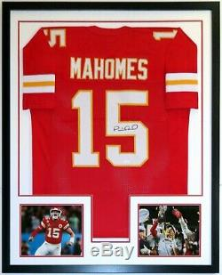 Patrick Mahomes Autographié De Super Bowl Jersey Chiefs Jsa Coa Encadrée Photo 8x10