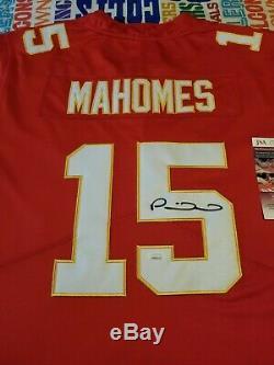Patrick Mahomes Autographié Kansas City Chiefs Jersey Avec Superbowl Patch, Jsa
