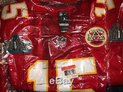 Patrick Mahomes Chiefs De Kansas City Super Bowl 54 LIV Patch Maillot Rouge Et Blanc