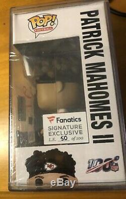 Patrick Mahomes Chiefs Fanatics Super Bowl Auto Autographed Funko Pop Rare / 100