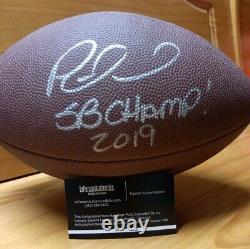 Patrick Mahomes Football Avec Coa Kansas City Chiefs Super Bowl Champions 2020