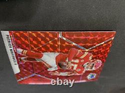 Patrick Mahomes II 2020 Mosaic Red Mosaic Prizm Panini Chiefs #1 Mint Super Bowl