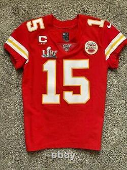 Patrick Mahomes Kansas City Chiefs Nike Elite Super Bowl LIV Jersey & Patches