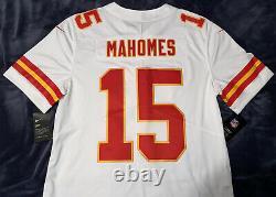 Patrick Mahomes Kansas City Chiefs White Limited Authentic Jersey Super Bowl Mvp