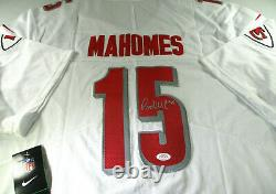 Patrick Mahomes / Mvp Du Super Bowl / Maillot Pro Style Des Chiefs Autographié / Coa