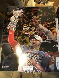 Patrick Mahomes Signé 16x20 Super Bowl Chiefs Image Fanatics Coa
