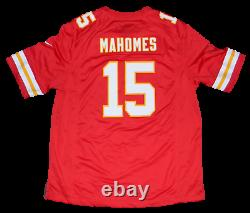 Patrick Mahomes Signé Kansas City Chiefs #15 Nike Super Bowl LV Jersey Beckett