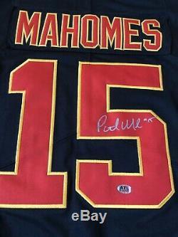 Patrick Mahomes Signé Kansas City Chiefs # 15 Super Bowl LIV Jersey Nike Coa