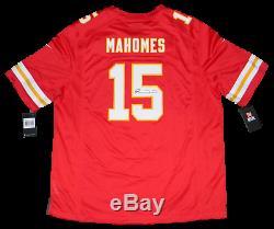 Patrick Mahomes Signé Kansas City Chiefs # 15 Super Bowl LIV Jersey Nike Jsa