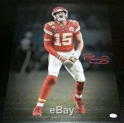 Patrick Mahomes Signe Kansas City Chiefs Super Bowl LIV 16x20 Photo Jsa