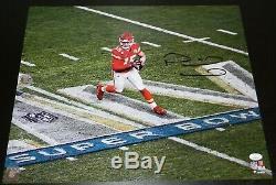 Patrick Mahomes Signe Kansas City Chiefs Super Bowl LIV Logo Photo 16x20 Jsa