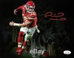 Patrick Mahomes Signe Kansas City Chiefs Super Bowl LIV Run 8x10 Photo Jsa