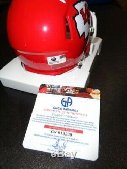 Patrick Mahomes Super Bowl Mvp Autographié Kansas City Chiefs Mini Casque Avec Coa