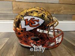 Personnalisés Kansas City Chiefs Casque Authentique Football Super Bowl Champs Mahomes