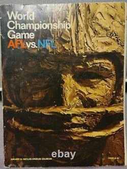 Programme Super Bowl 1 (emballeurs, Chefs) NFL Original