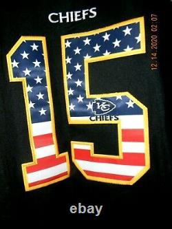 Rare & New Nike Kansas City Chiefs Patrick Mahomes Black Patriotic Jersey, Lg