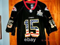 Rare Nike Kansas City Chiefs Patrick Mahomes Black Patriotic Super Bowl Jersey