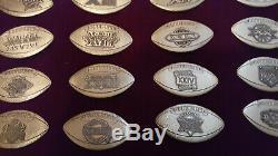 Rare Super Bowl Media Presse Pin Set 30 Pins # 101 Chefs De Nouvelles 49ers Patriots Ours