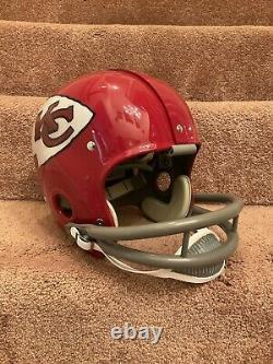 Rk Vintage Style Kansas City Chefs Casque De Football Len Dawson Super Bowl IV 4