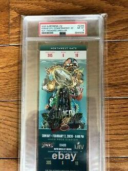 Super Bowl 2020 54 LIV Ticket Psa 8 Nm-mt Chiefs Mahomets Uniquement 1 Graded Hauter