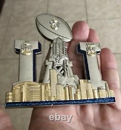 Super Bowl 51 LI Houston Texas Chef Cpo Marine Défi Coin Patriots Tom Brady