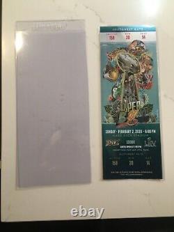 Super Bowl 54 LIV 2020 Ticket Stub Kansas City Chiefs Vs San Francisco 49ers