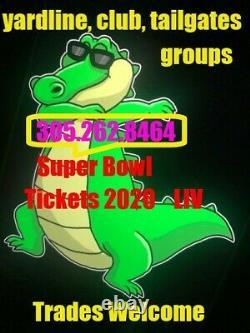 Super Bowl 54 LIV Tickets 2020 11 Lower Yardlines, Groupes, Métiers, Chiefs 49ers
