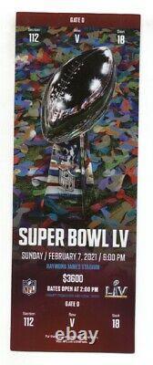 Super Bowl 55 LV Ticket Kansas City Chiefs Vs. Tampa Bay Buccaneers 2/7/21